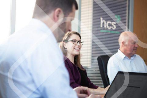 sales meeting in office